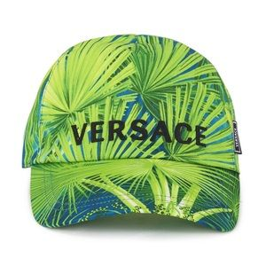 SALE 🍁 VERSACE Jungle Print Hat with Embroidered Logo NWT